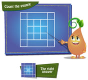 Count the squares 6 ansver Stock Photography