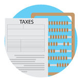 Count tax icon vector Stock Photography