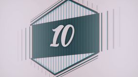 Count 1 to 10. Stop motion animation with color paper. Count from 1 to 10 classic style with lines stock illustration