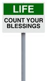 Count Your Blessings. A conceptual sign on counting your blessings Royalty Free Stock Images