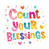 Count your blessings. Lettering design Stock Photo