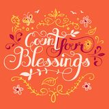 Count your blessings illustration Stock Photos