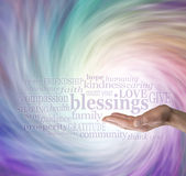 Count Your Blessings Word Cloud Royalty Free Stock Photo