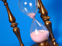 Countdown. Hourglass - Time is up stock photos