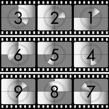 Countdown. Vector illustration of the movie countdown Royalty Free Stock Image