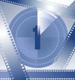 Countdown. Film countdown at number 1 Royalty Free Stock Images