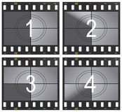 Countdown. Vector illustration countdown and film strip royalty free illustration