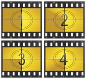 Countdown. Vector illustration countdown and film strip Stock Photography