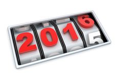 2016 countdown Royalty Free Stock Image