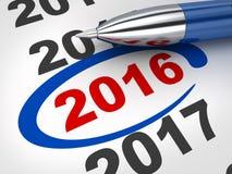 2016 countdown Stock Photo