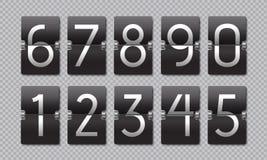 Countdown black flip clock. Scoreboard retro panel, analog remaining time banner, digital time counter. Vector web. Countdown mechanics clock stock illustration