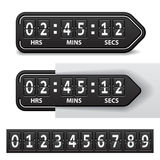 Countdown black mechanical timer Royalty Free Stock Photography