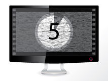 Countdown in a black monitor. Black and white countdown in an lcd monitor Royalty Free Stock Photography