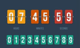 Countdown clock flip counter vector digital timer stock illustration