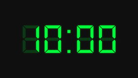 Countdown clock, green Royalty Free Stock Photography