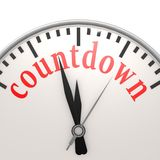 Countdown clock. Image with hi-res rendered artwork that could be used for any graphic design Royalty Free Stock Photo
