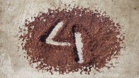 Countdown on cocoa powder stock video