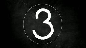 Countdown counting from number five to number zero. On Black Blackboard Background vector illustration