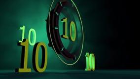 10 Countdown stock video