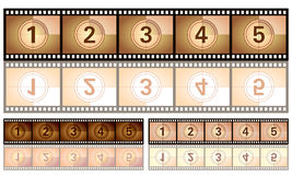 Countdown film Royalty Free Stock Photos