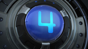 Countdown. Film-leader countdown.3D animation stock footage
