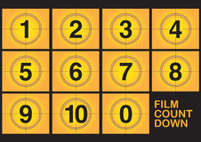 Countdown on film Stock Photo
