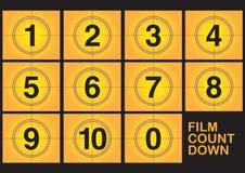 Countdown on film Stock Photo