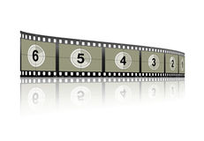 Countdown FilmStrip Royalty Free Stock Images