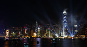 Countdown Fireworks Show in Hong Kong Stock Images