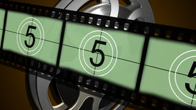 Countdown Leader Film Strip stock video footage