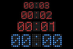 Countdown Led Display Numbers Royalty Free Stock Photo