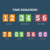 Countdown mechanical clock. Royalty Free Stock Photography