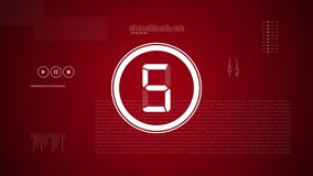 Countdown In Modern 2d Animation With Digital And Technological