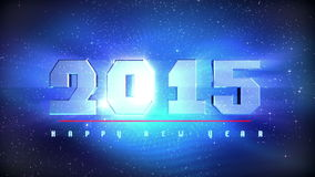 Countdown 2015 New Year stock illustration