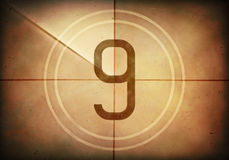Countdown Nine Royalty Free Stock Photo