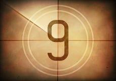 Countdown Nine Royalty Free Stock Photo