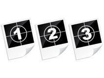 Countdown photo frame Royalty Free Stock Images