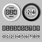 Countdown round mechanical timer Royalty Free Stock Images