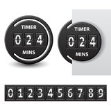 Countdown round mechanical timer Stock Photo