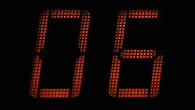 Countdown seconds on the electronic board stock footage