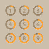 Countdown section icons template Stock Images