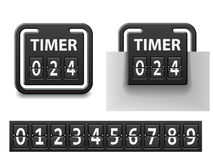 Countdown square mechanical timer Royalty Free Stock Photography