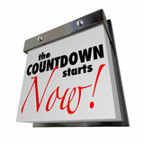 Countdown Starts Now Calendar Day Date Final Stock Image