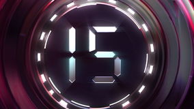 Countdown On Steel Ball stock video footage