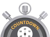 Countdown stopwatch Stock Image