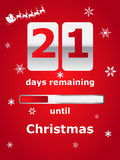 Countdown till Christmas Royalty Free Stock Photography