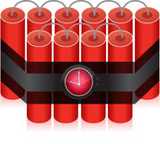 Countdown Time Bomb - Dynamite Stock Photo