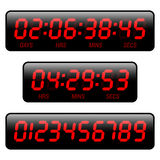 Countdown timer. The illustration of a countdown timer Royalty Free Stock Photo