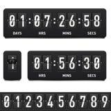 Countdown timer. Illustration on white background for design Stock Image