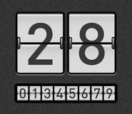Countdown timer. With different numbers Stock Photography
